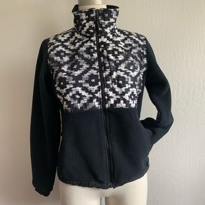 The north face Denali fleece jacket black Aztec S